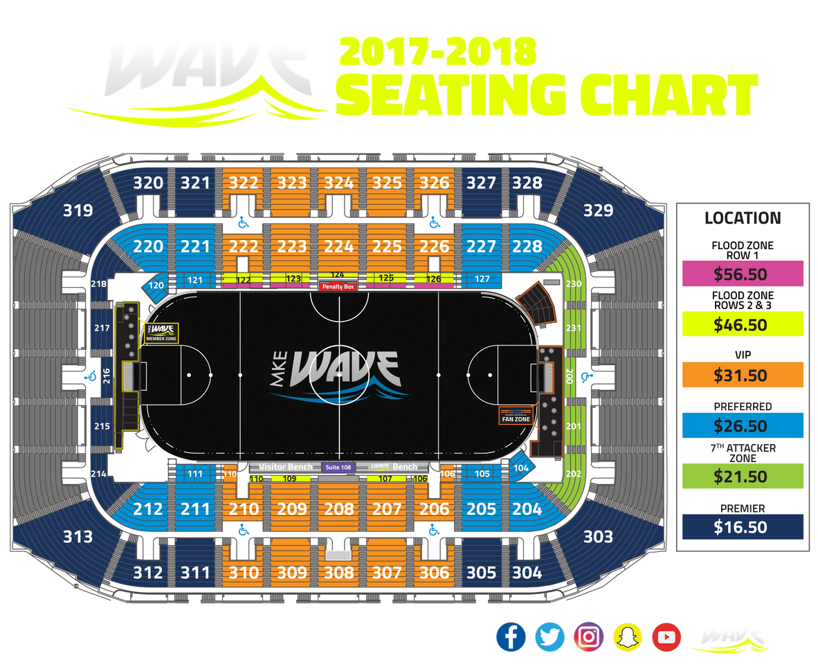 Arena Seating Map Mke Wave
