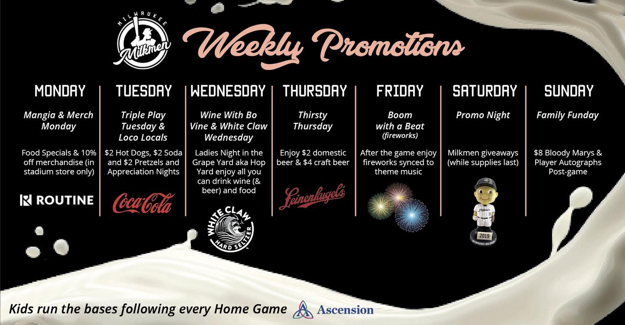 graphic relating to Milwaukee Brewers Printable Schedule known as Marketing Timetable - Milwaukee Milkmen