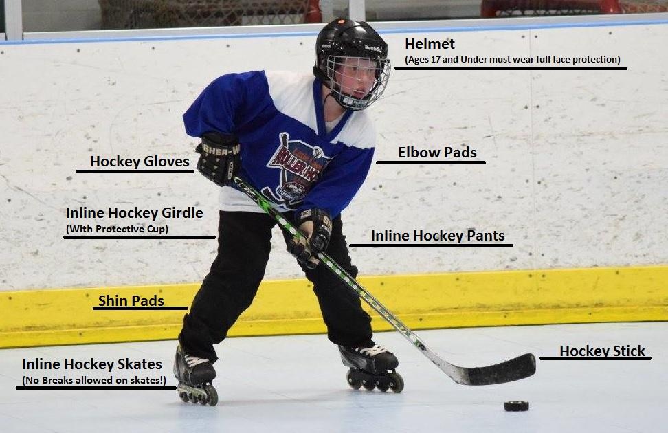 Required Equipment Little Caesars Roller Hockey