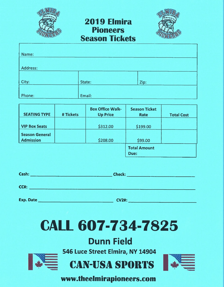 Tickets - The Elmira Pioneers