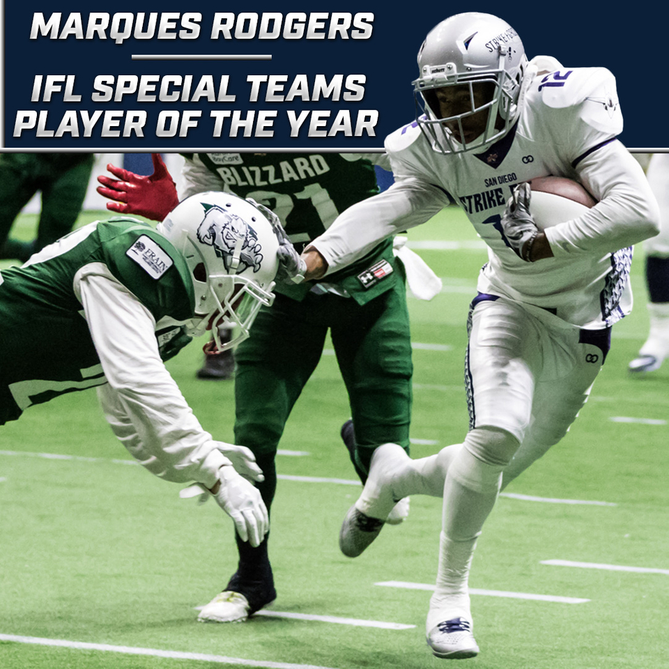 Marques Rodgers Named Special Teams Player of the Year - San Diego Strike Force