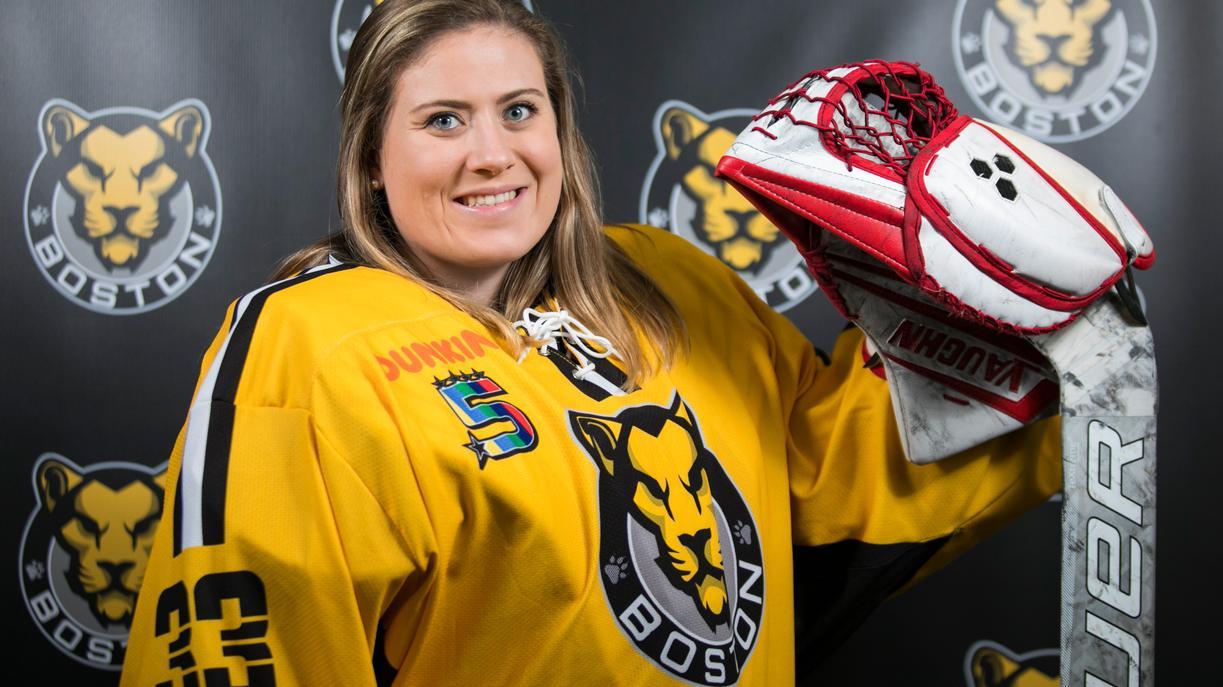Goaltender Victoria Hanson (6-0 Last Season) Re-signed by the Boston Pride